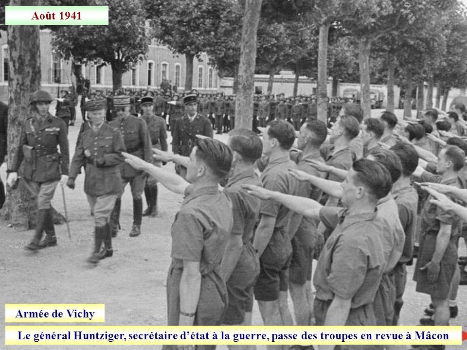 Août 1941 Armée de Vichy.