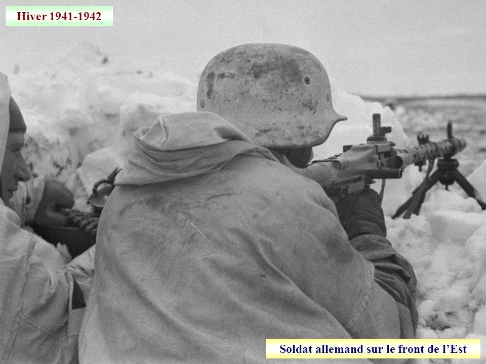 Soldat allemand sur le front de l'Est