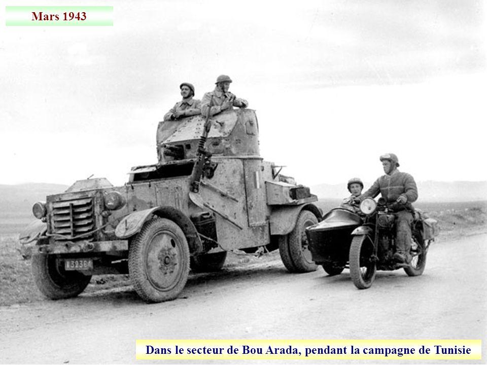 Dans le secteur de Bou Arada, pendant la campagne de Tunisie