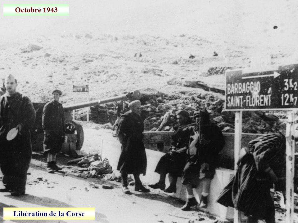Octobre 1943 Libération de la Corse
