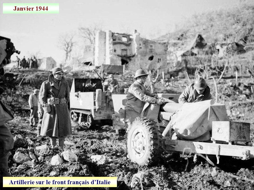 Artillerie sur le front français d'Italie