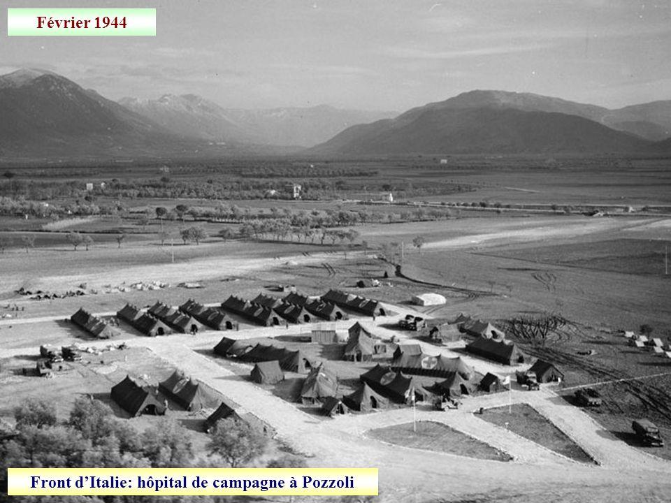 Front d'Italie: hôpital de campagne à Pozzoli