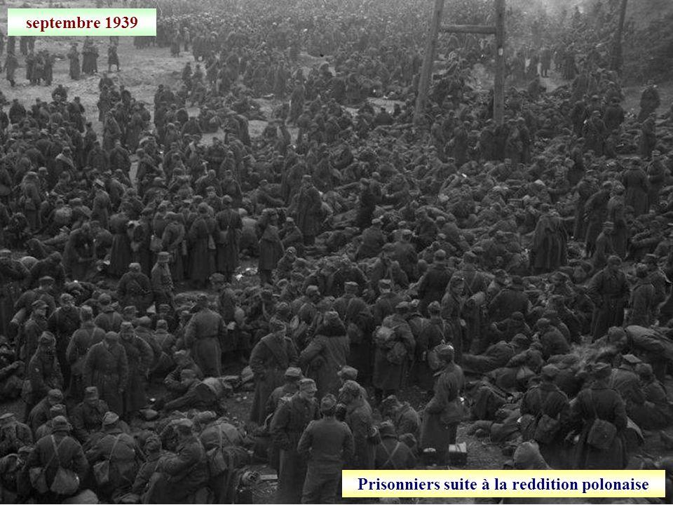 Prisonniers suite à la reddition polonaise