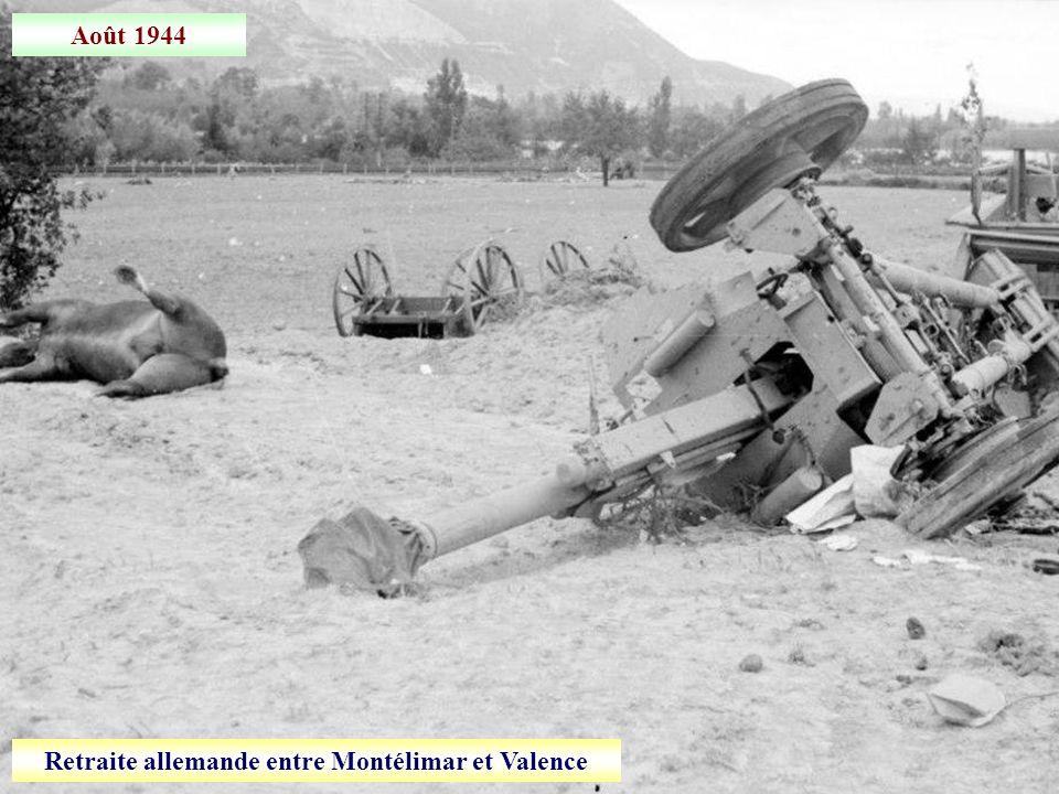 Retraite allemande entre Montélimar et Valence