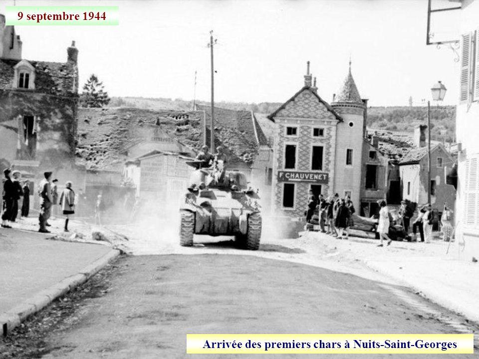Arrivée des premiers chars à Nuits-Saint-Georges