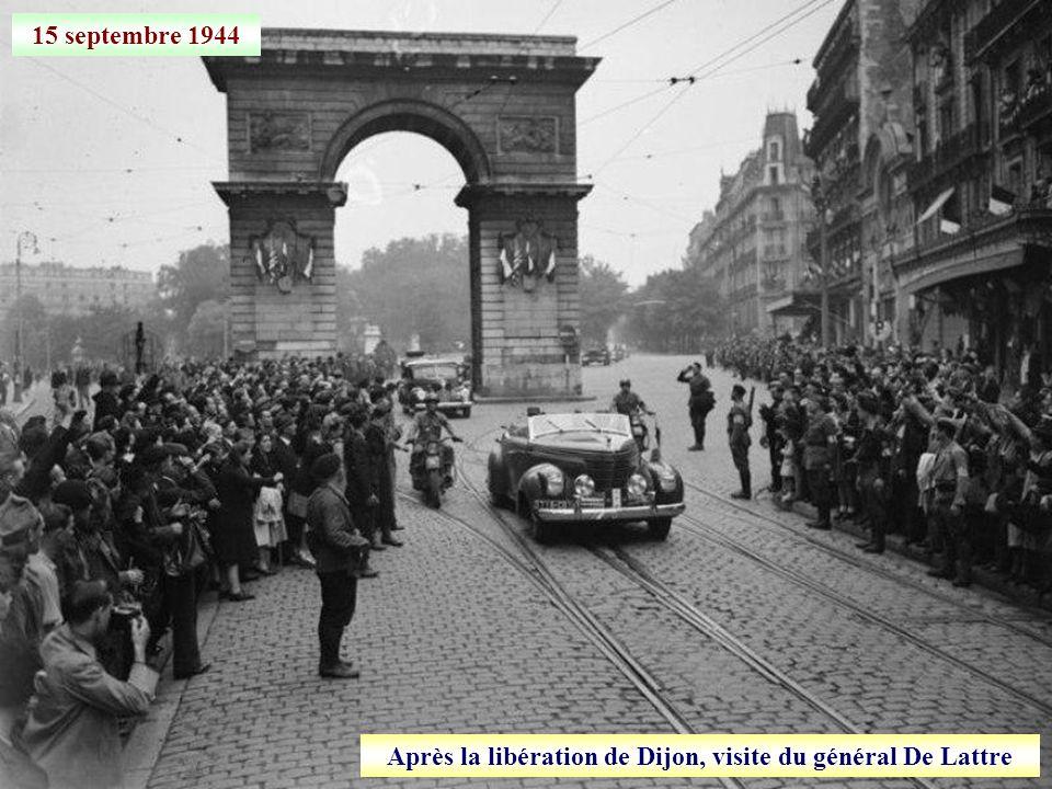 Après la libération de Dijon, visite du général De Lattre