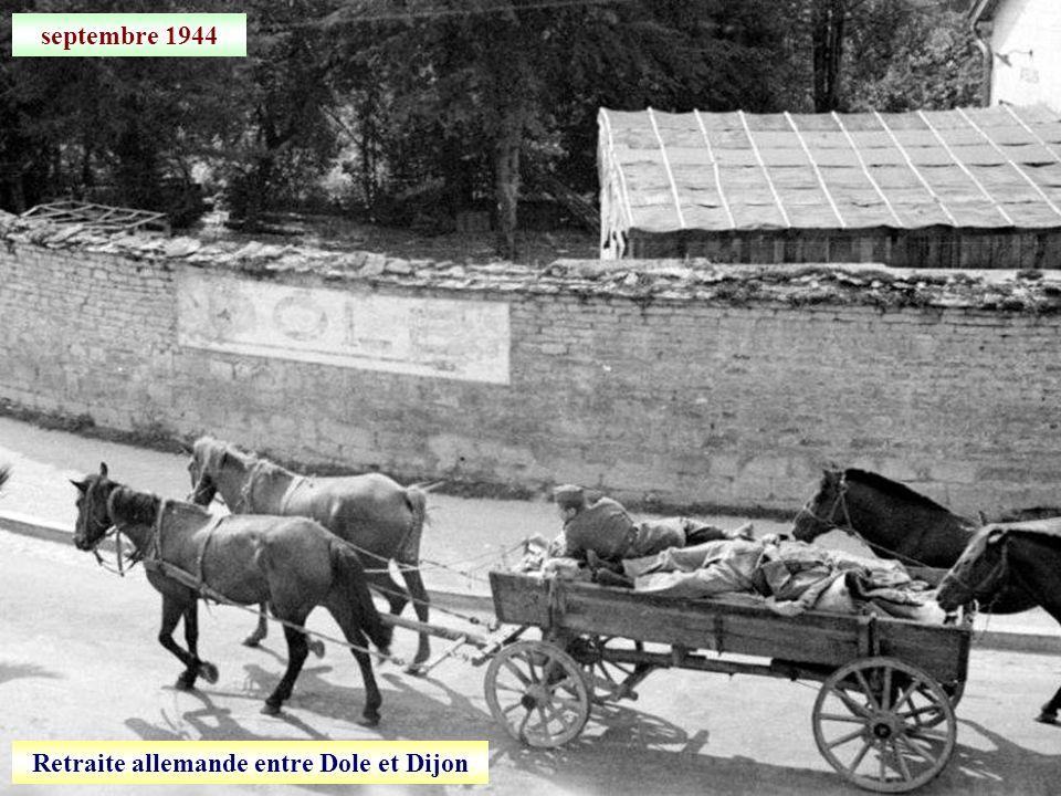 Retraite allemande entre Dole et Dijon