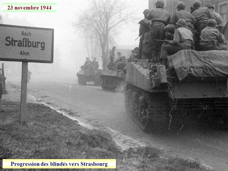 Progression des blindés vers Strasbourg