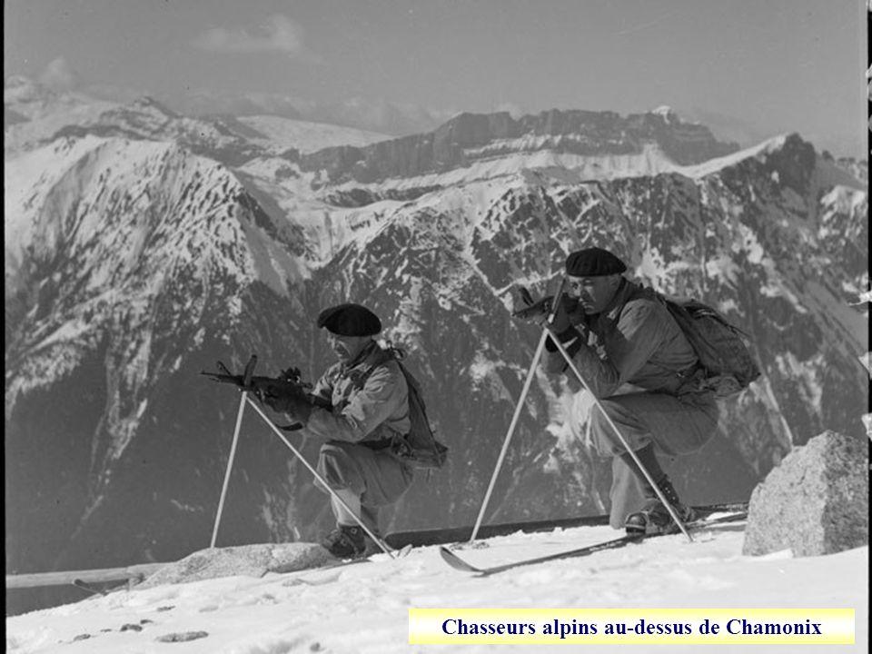Chasseurs alpins au-dessus de Chamonix