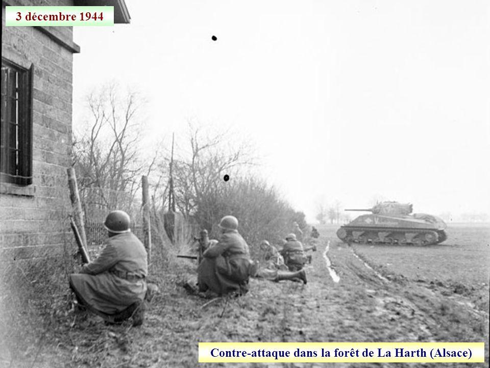 Contre-attaque dans la forêt de La Harth (Alsace)