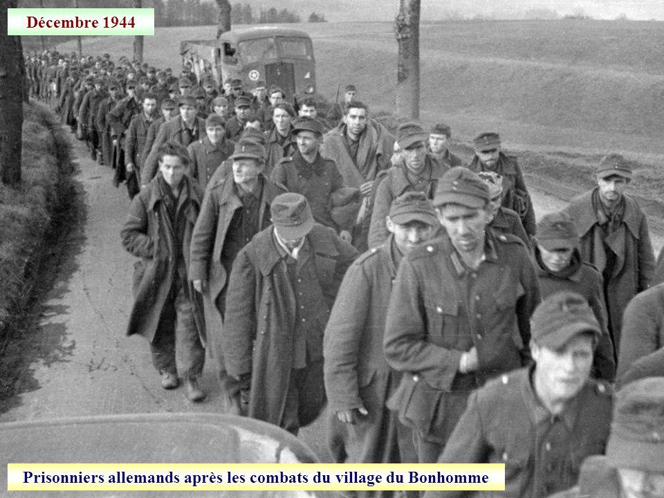Prisonniers allemands après les combats du village du Bonhomme