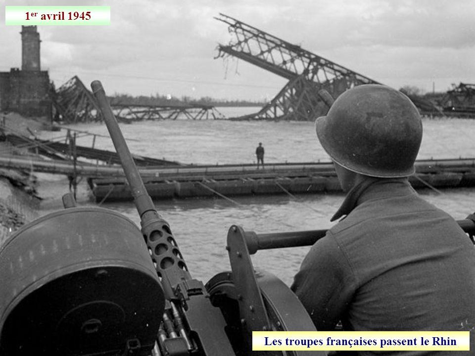 Les troupes françaises passent le Rhin