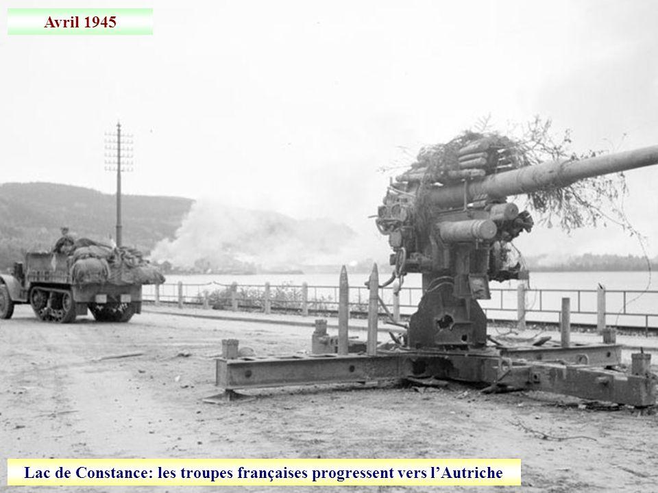 Lac de Constance: les troupes françaises progressent vers l'Autriche