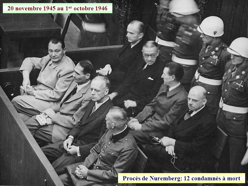 Procès de Nuremberg: 12 condamnés à mort