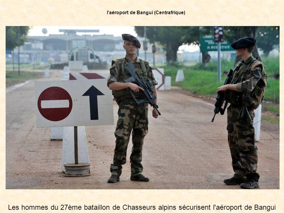 l aéroport de Bangui (Centrafrique)