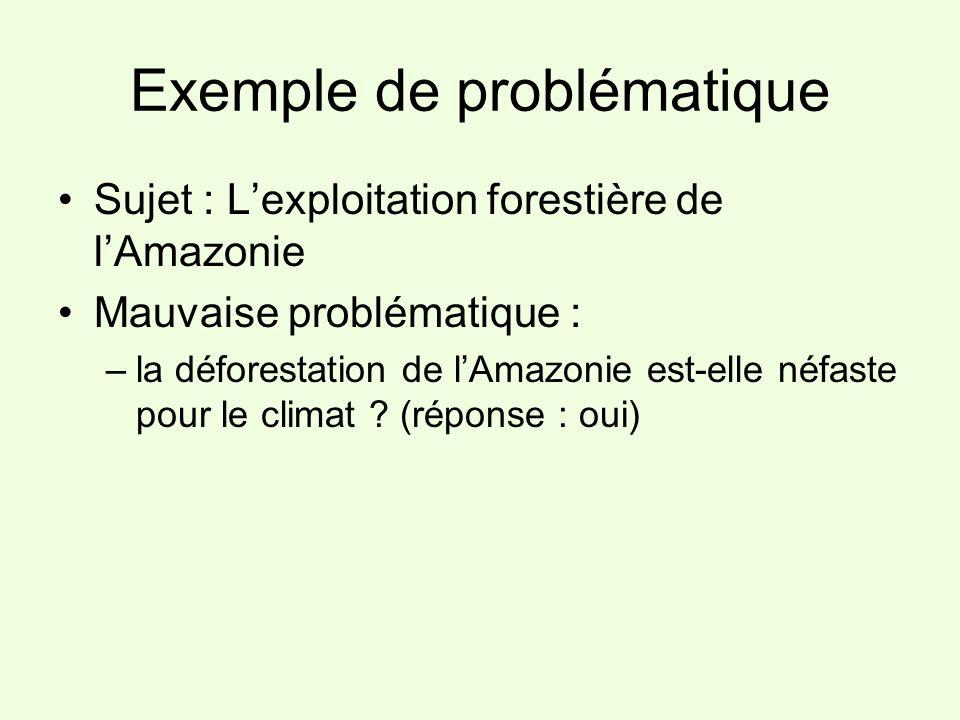 Exemple de problématique