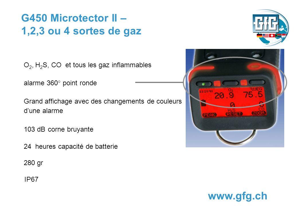G450 Microtector II – 1,2,3 ou 4 sortes de gaz