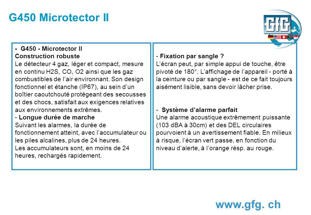 G450 Microtector II www.gfg. ch - G450 - Microtector II