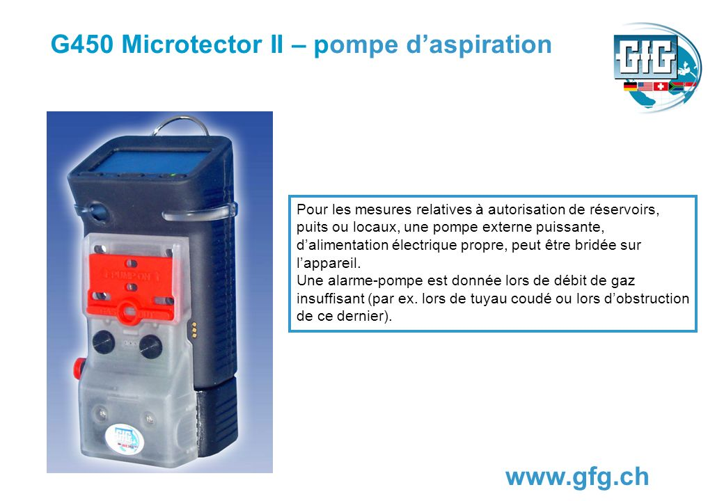 G450 Microtector II – pompe d'aspiration
