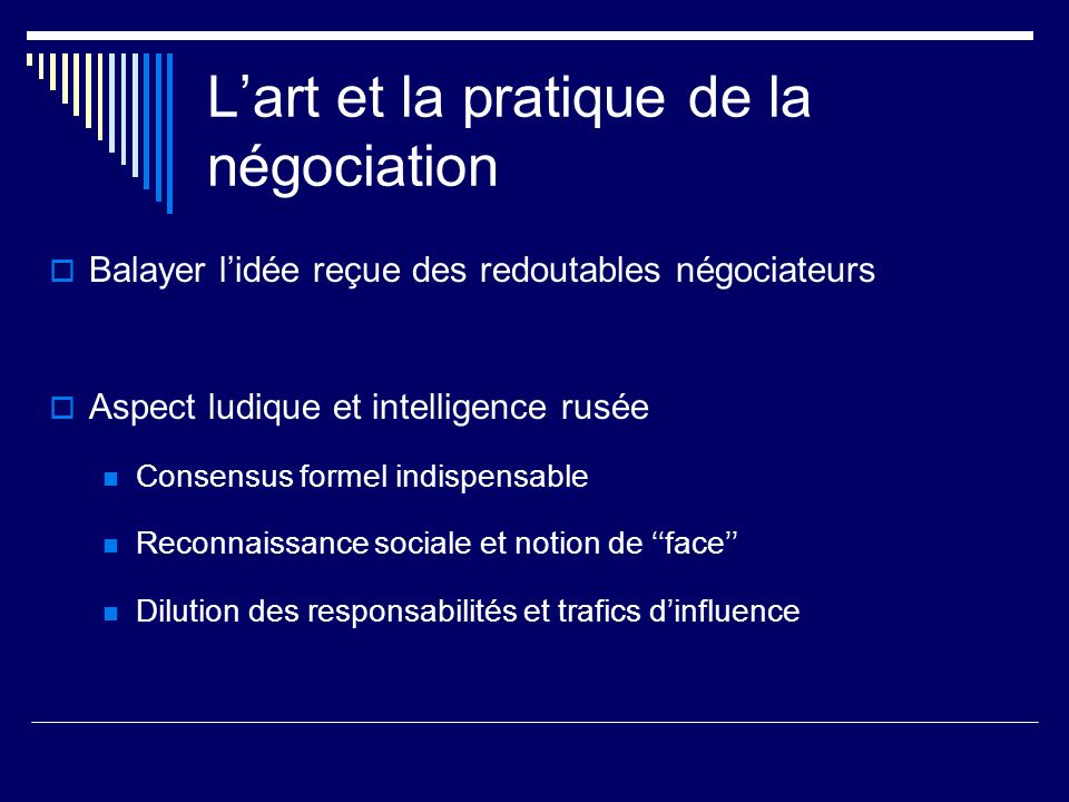 L'art et la pratique de la négociation