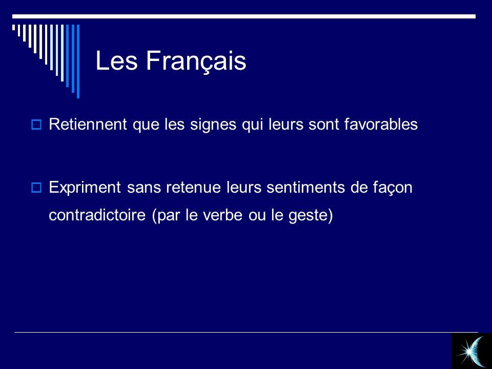 Les Français Retiennent que les signes qui leurs sont favorables