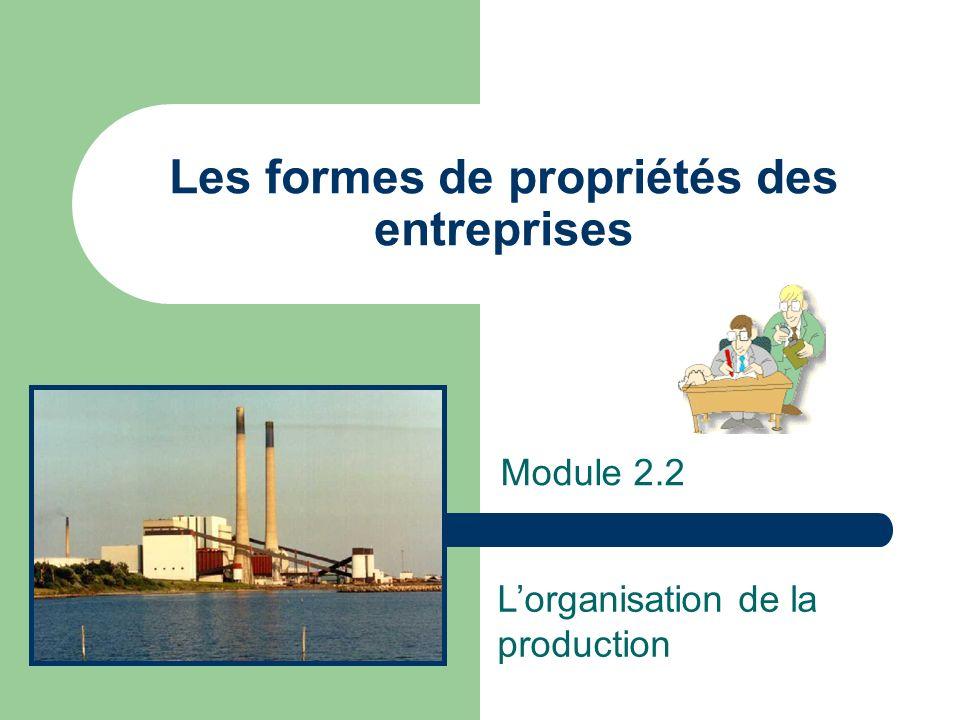 Les formes de propriétés des entreprises