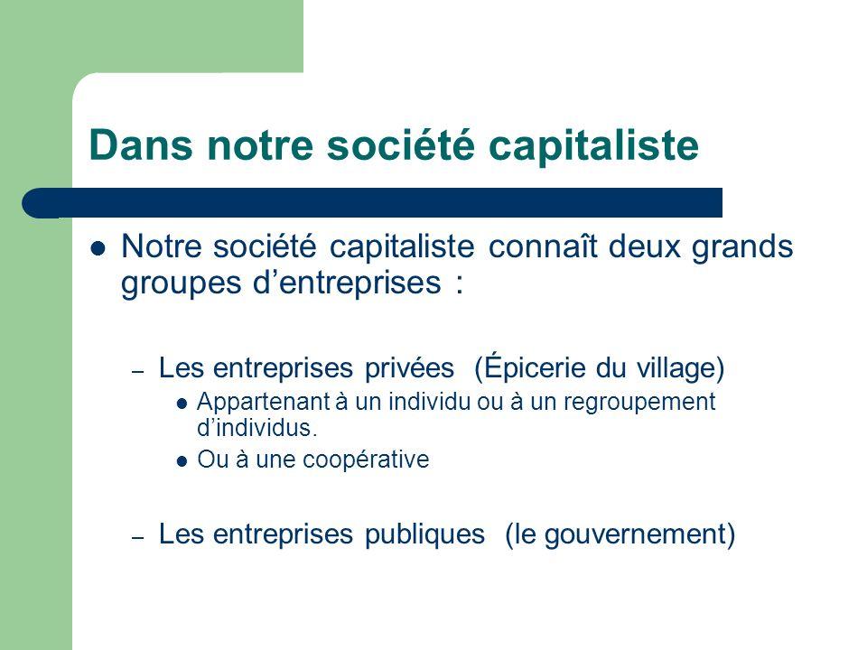 Dans notre société capitaliste