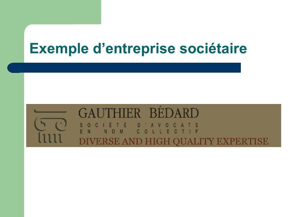 Exemple d'entreprise sociétaire