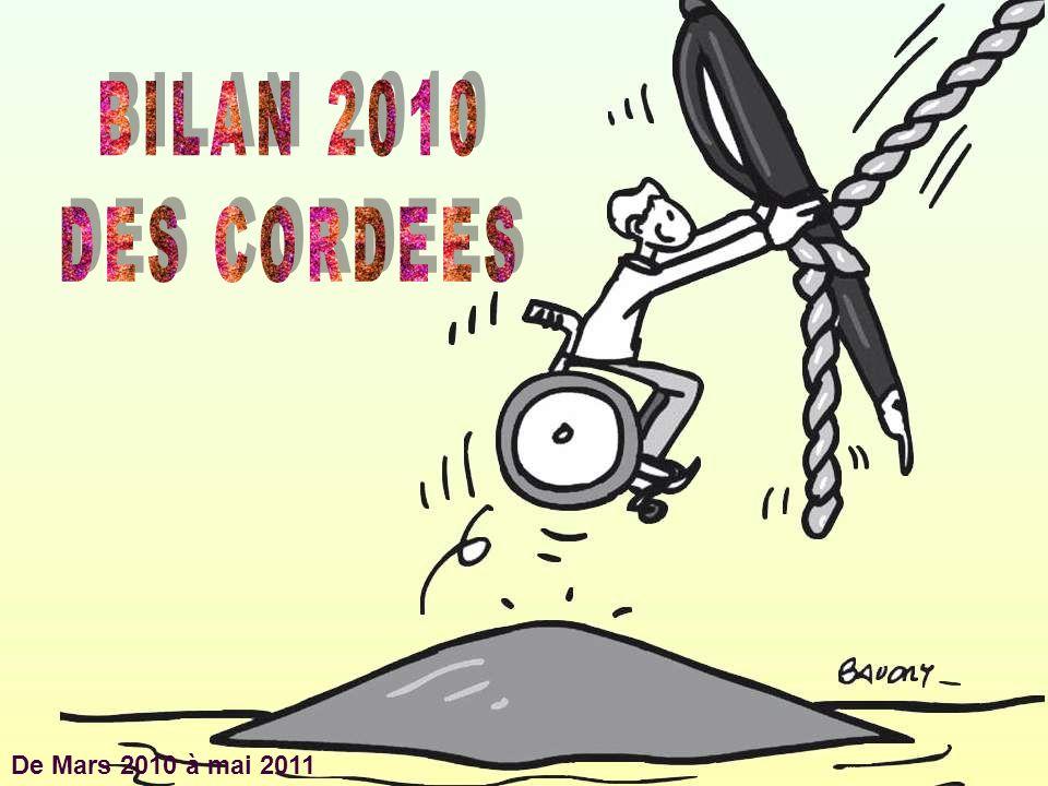 BILAN 2010 DES CORDEES De Mars 2010 à mai 2011