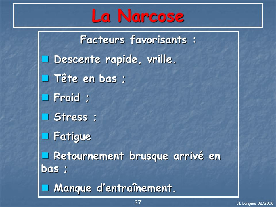 Facteurs favorisants :