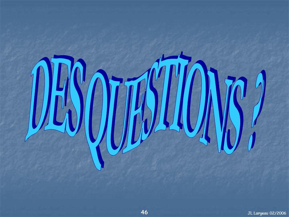 DES QUESTIONS JL Largeau 02/2006
