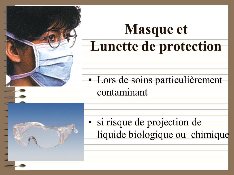 Masque et Lunette de protection