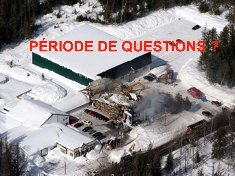 PÉRIODE DE QUESTIONS PÉRIODE DE QUESTIONS