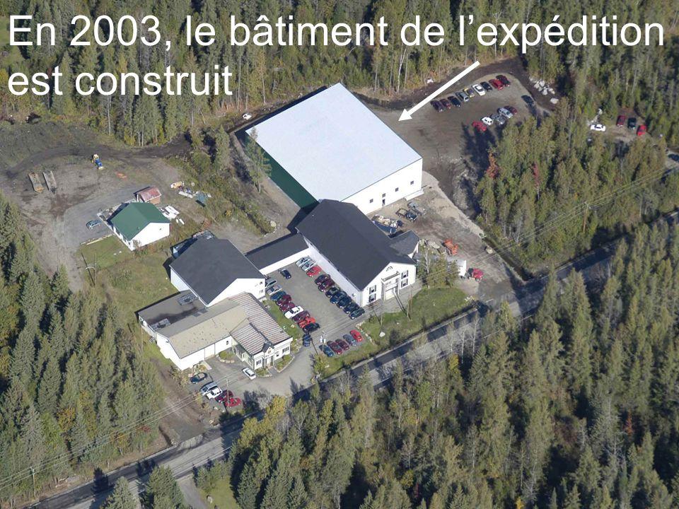 En 2003, le bâtiment de l'expédition est construit