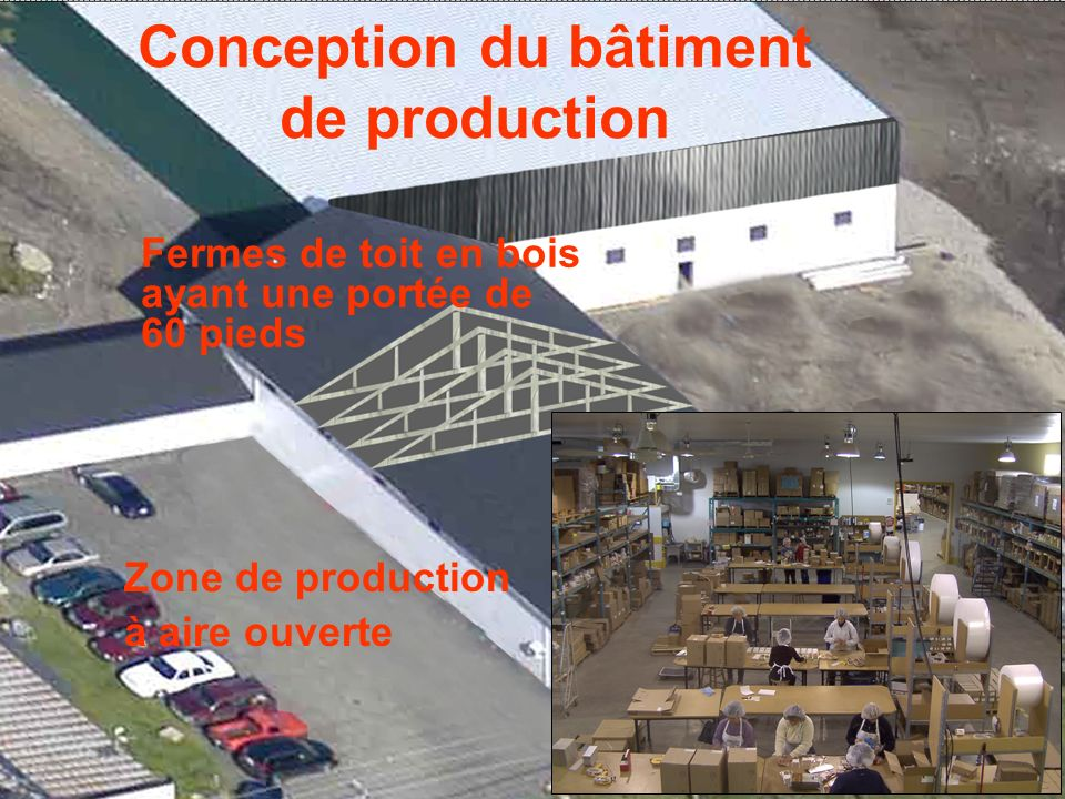 Conception du bâtiment de production