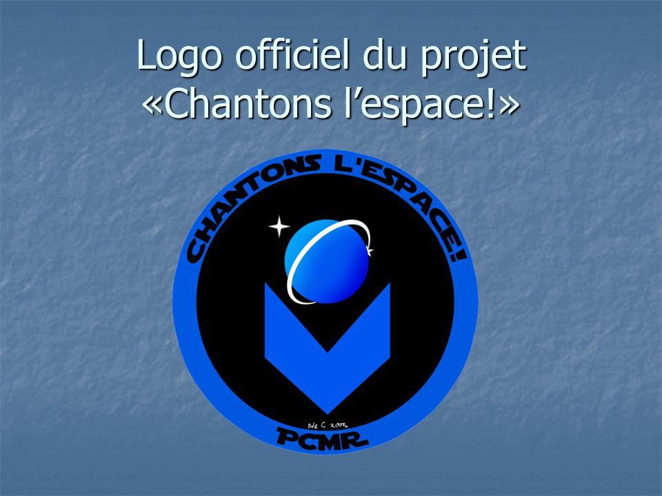 Logo officiel du projet «Chantons l'espace!»