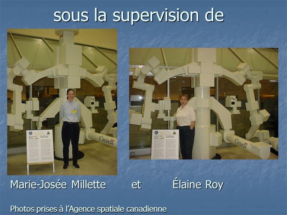 sous la supervision de Marie-Josée Millette et Élaine Roy