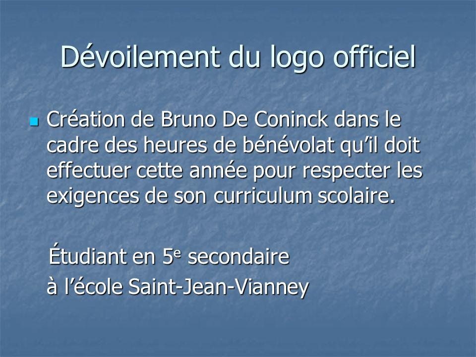 Dévoilement du logo officiel