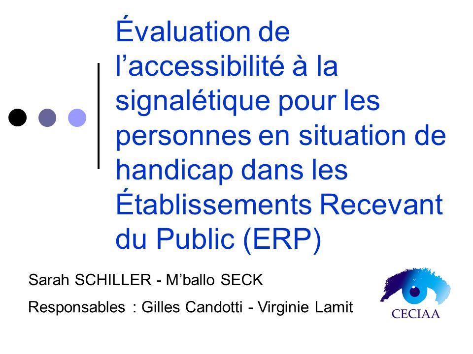 Évaluation de l'accessibilité à la signalétique pour les personnes en situation de handicap dans les Établissements Recevant du Public (ERP)