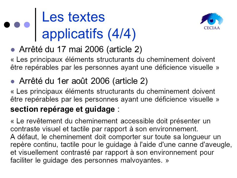 Les textes applicatifs (4/4)