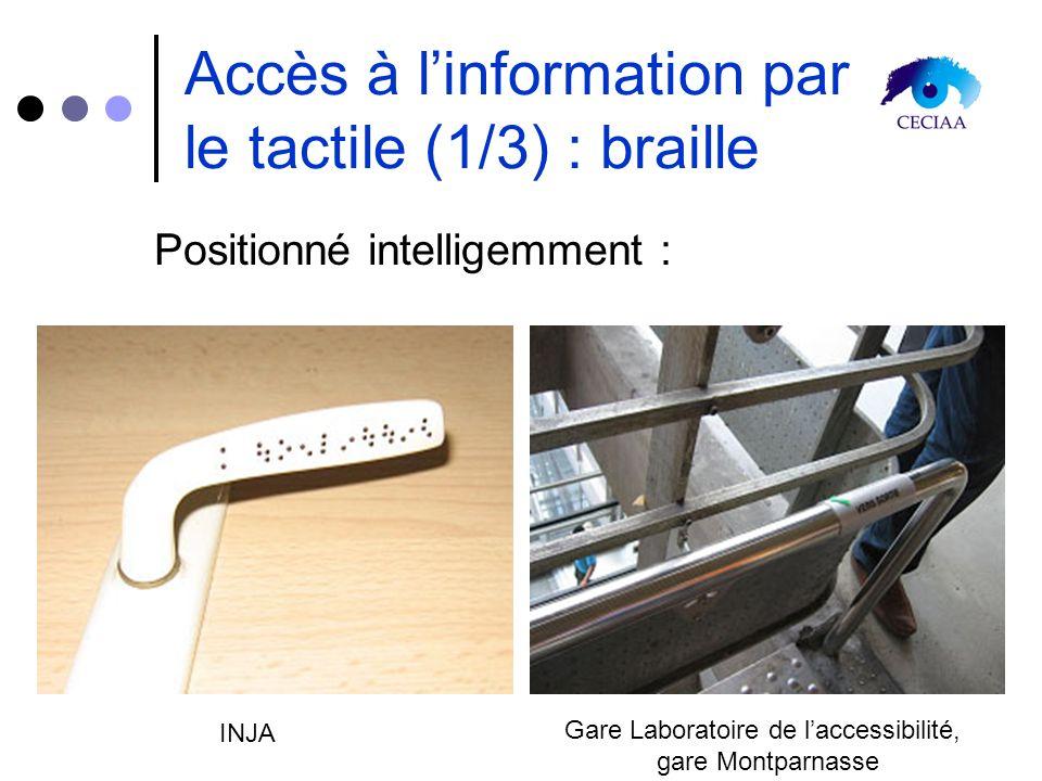 Accès à l'information par le tactile (1/3) : braille