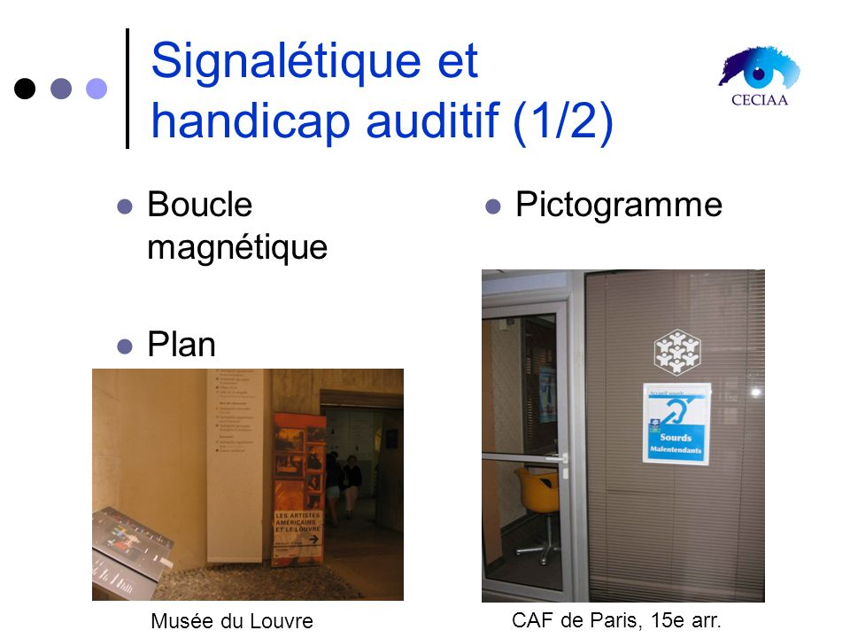 Signalétique et handicap auditif (1/2)