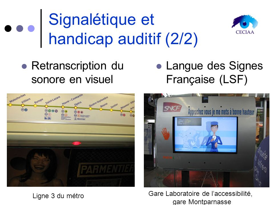 Signalétique et handicap auditif (2/2)