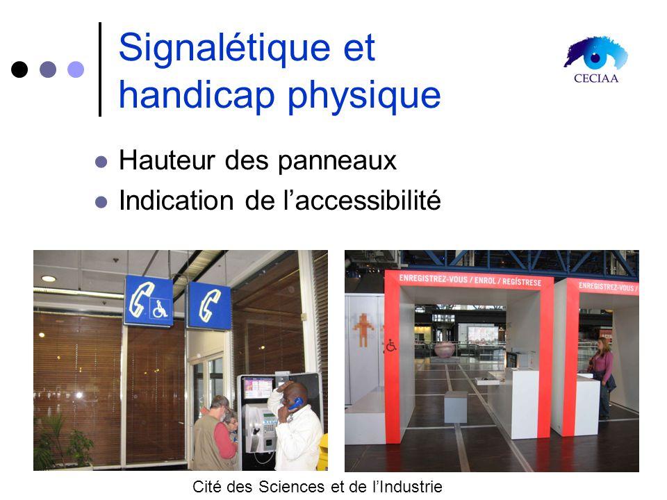 Signalétique et handicap physique
