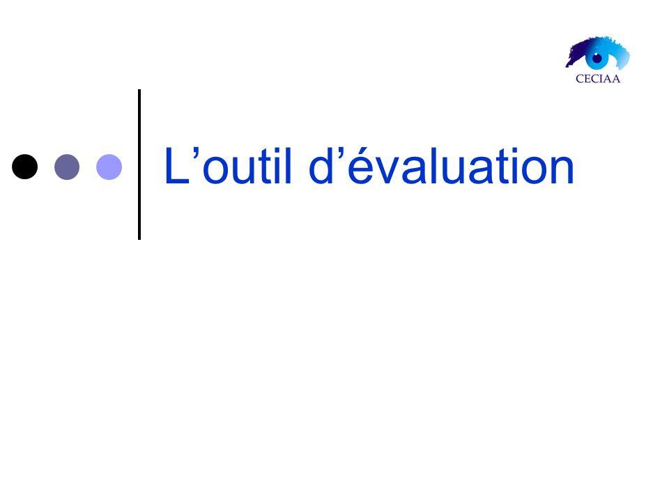 L'outil d'évaluation