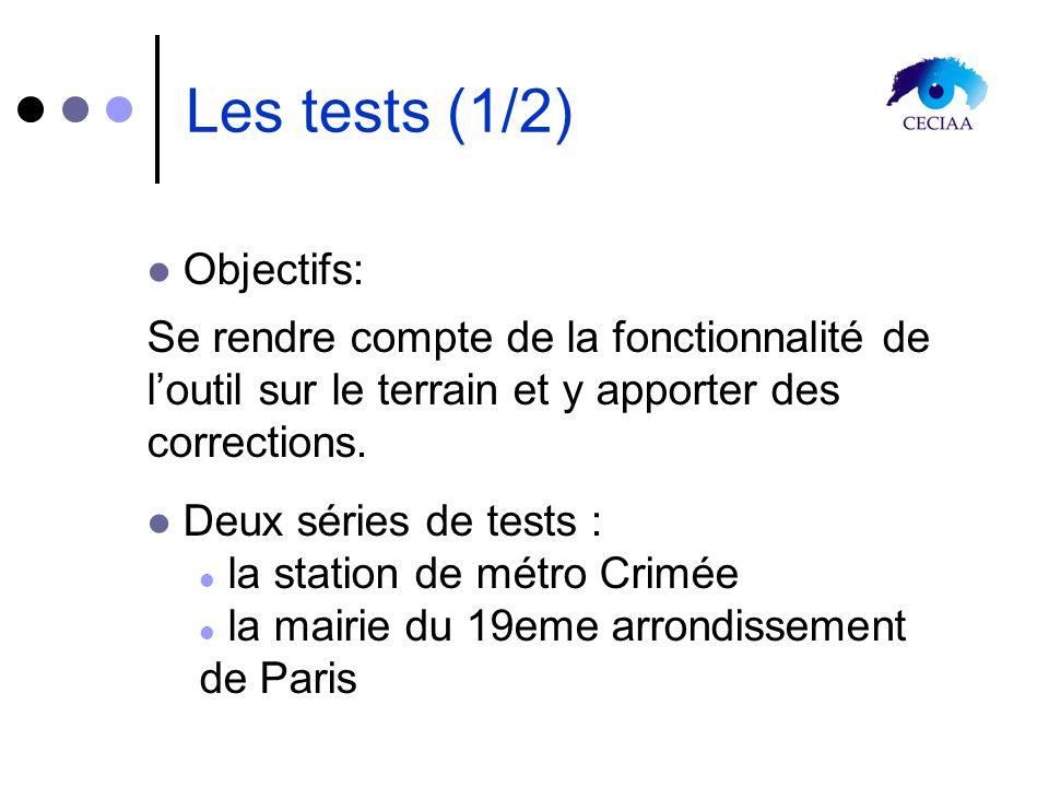 Les tests (1/2) Objectifs: