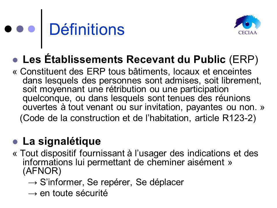 Définitions Les Établissements Recevant du Public (ERP)