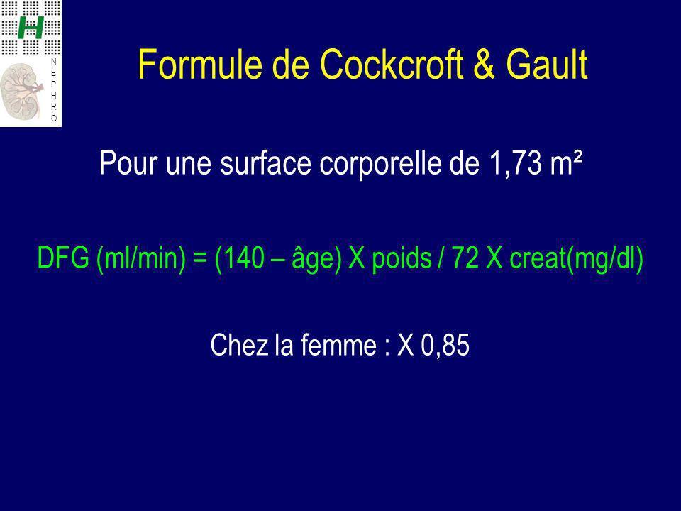 Formule de Cockcroft & Gault