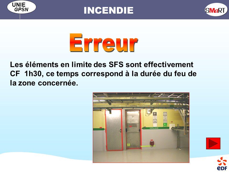 Erreur Les éléments en limite des SFS sont effectivement CF 1h30, ce temps correspond à la durée du feu de la zone concernée.