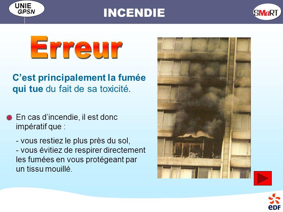 Erreur C'est principalement la fumée qui tue du fait de sa toxicité.